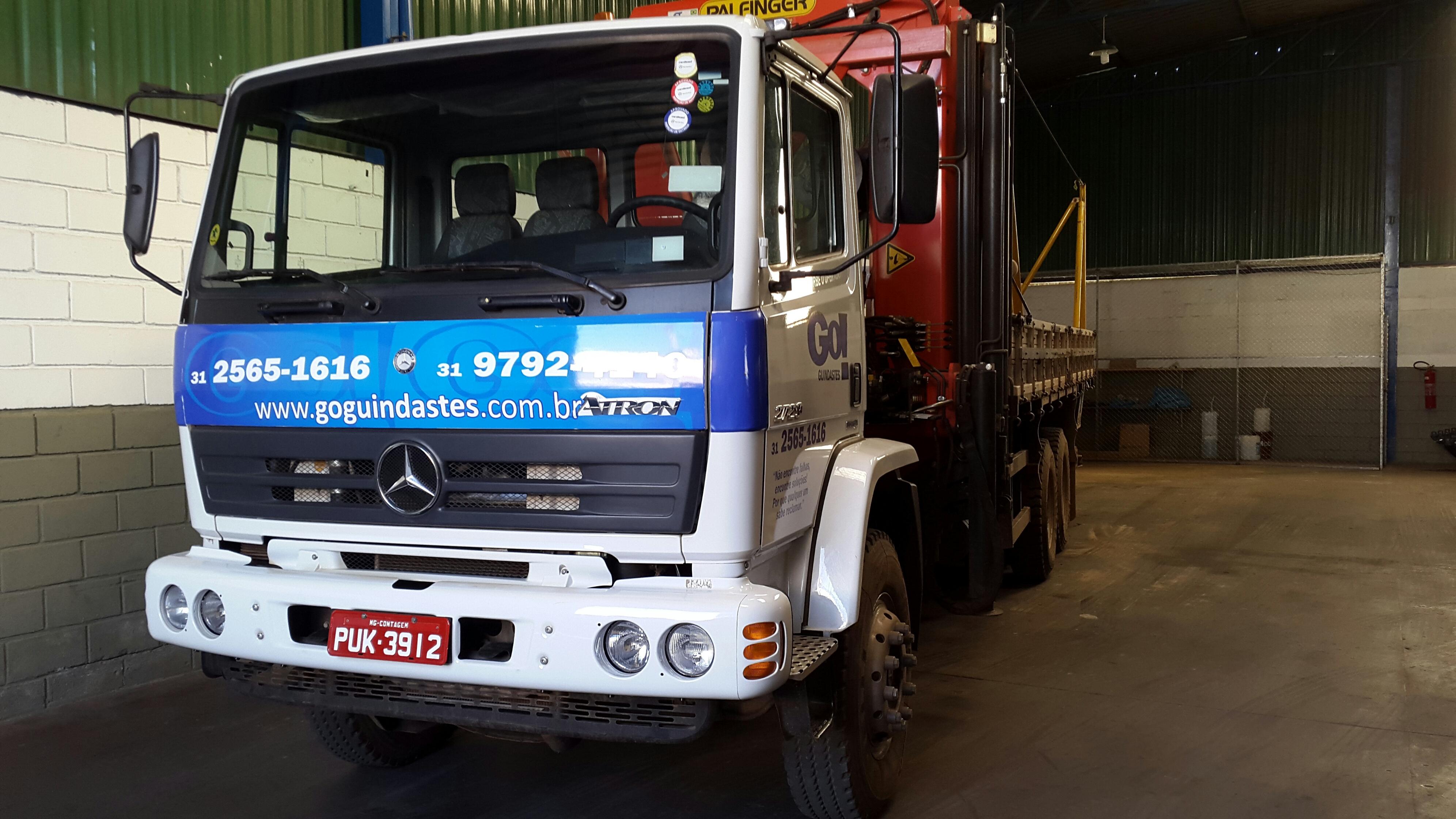 Munck MD45007 instalado no Caminhão Mercedes traçado 2729