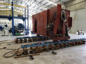 Remoção Industrial de prensa de 23 toneladas.