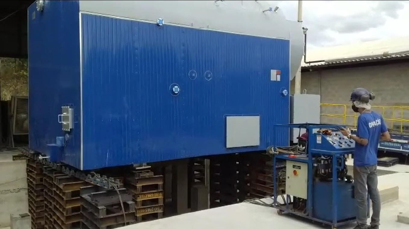 Transporte e Movimentação de Caldeira Industrial com 27 toneladas