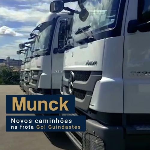 Nova Frota de Caminhões Munck Go! Guindastes