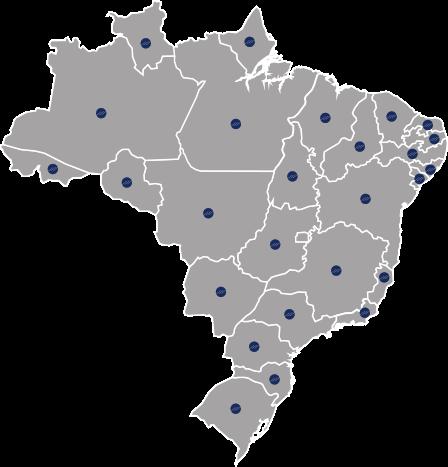 Atendimento em todo Brasil