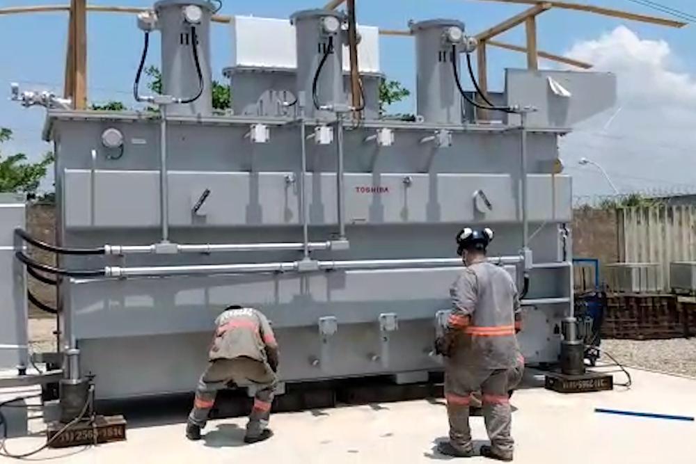 Remoção e Transporte Transformador de Energia
